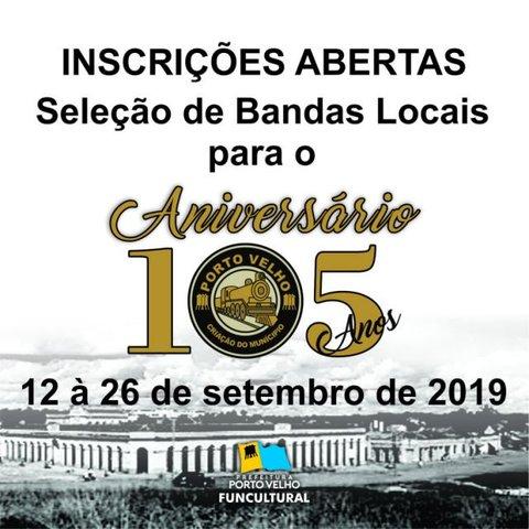 Palco Giratório apresenta  Teatro dos Imaginários + Aberto o edital  para seleção de bandas que se apresentarão no aniversário de Porto Velho - Gente de Opinião