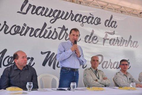 Prefeito Hildon Chaves participa de inauguração da 1ª agroindústria de farinha de Nova Mutum