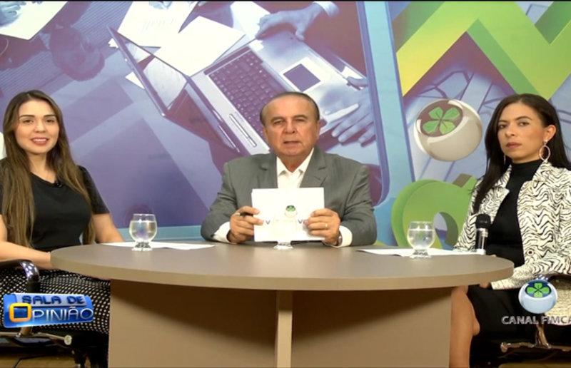 No programa Sala de Opinião Dr. Aparício Carvalho, entrevista as professoras do curso de radiologia da Faculdade Metropolitana Vanessa Lima e Regma Carvalho
