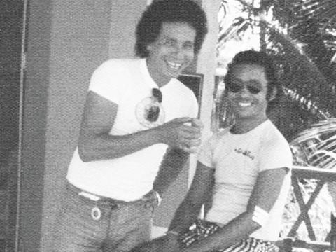 Imagem da década de 70 com João Dalmo e Lucivaldo Souza