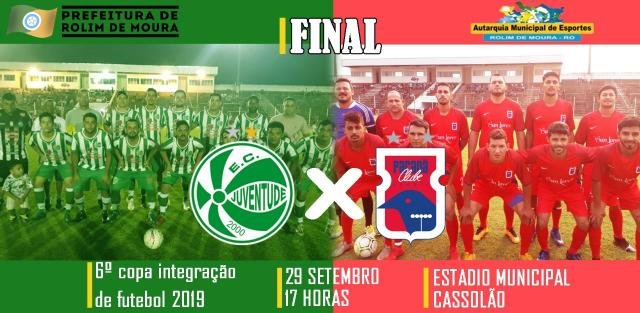 Rolim de Moura - Juventude X Paraná  farão final da Copa Integração  - Gente de Opinião