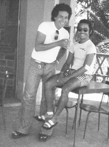 Imagem da década de 70 com João Dalmo e Lucivaldo Souza - Gente de Opinião