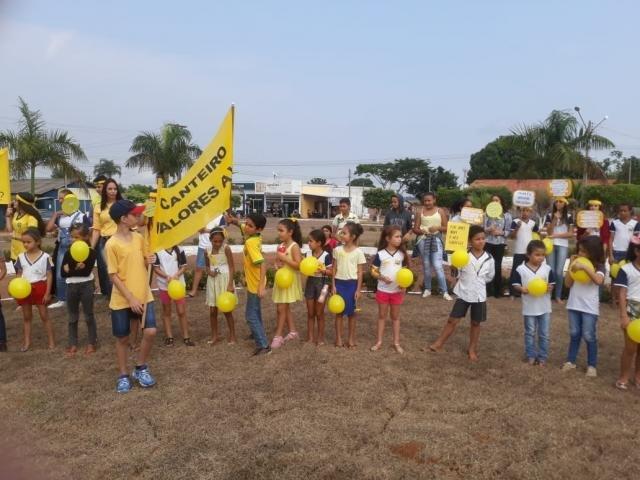 Setembro Amarelo - Canteiro de valores a vida, uma ação da secretária de educação em Castanheiras - Gente de Opinião