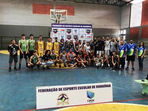 Equipes de Vilhena e de Cujubim vão representar Rondônia no Brasileiro Escolar de Basquete 3x3, em Salvador
