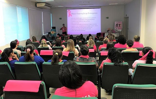 Palestra sobre a prevenção ao câncer de mama marca o Outubro Rosa na Hidrelétrica Santo Antônio - Gente de Opinião