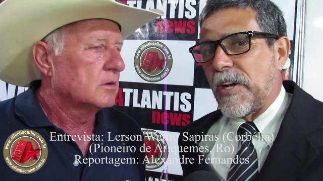 Lerson e o jornalista Alexandre - Gente de Opinião