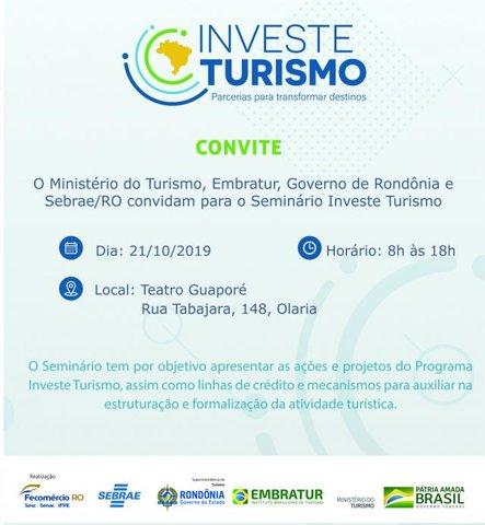 Programa Investe Turismo chega em Rondônia - Gente de Opinião