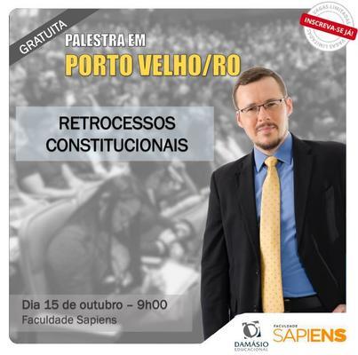 """Faculdade Sapiens sediará palestra gratuita sobre """"Retrocessos Constitucionais"""" com professor Flávio Martins"""