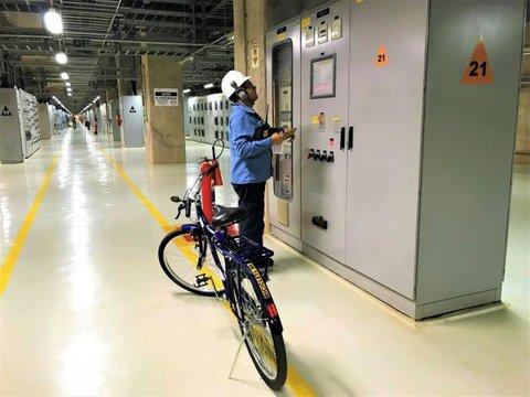 Bicicletas garantem agilidade nos trabalhos na Hidrelétrica Santo Antônio