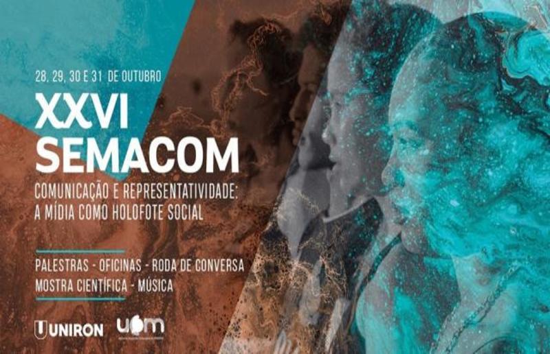 UNIRON: XXVI Semana Acadêmica de Comunicação será realizada  de 28 a 31 de Outubro