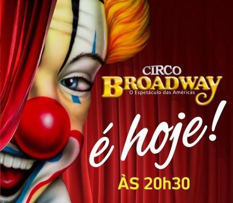 Circo Broadway em novo endereço em Porto Velho! lado da Havan – Entrada: meia para todos nesta sexta-feira (18)