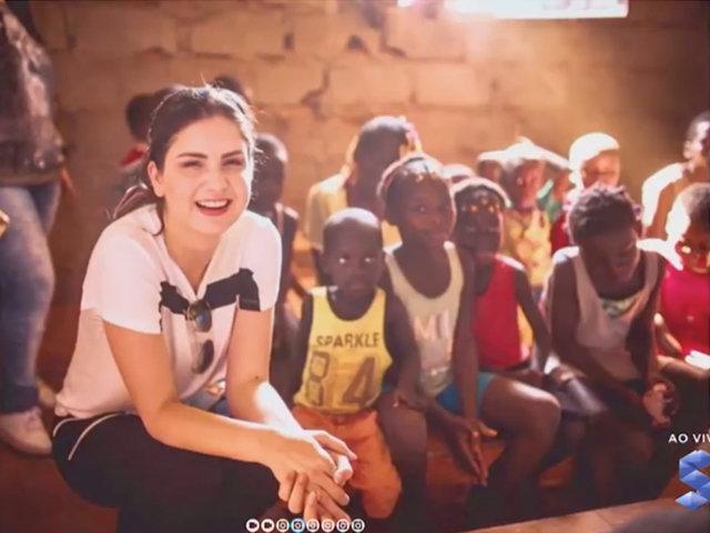 Poliana Cassol, prestando ajuda humanitária na África - Gente de Opinião