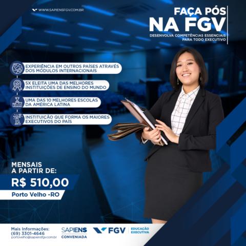 Em Porto Velho, Sapiens FGV está com matrículas abertas para cursos de pós-graduação a partir de R$ 510,00 - Gente de Opinião