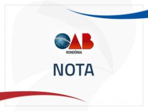 """OAB/RO se manifesta sobre vazamento de áudios atribuídos a delegado de Polícia Civil em investigações da operação """"Pau Oco"""""""