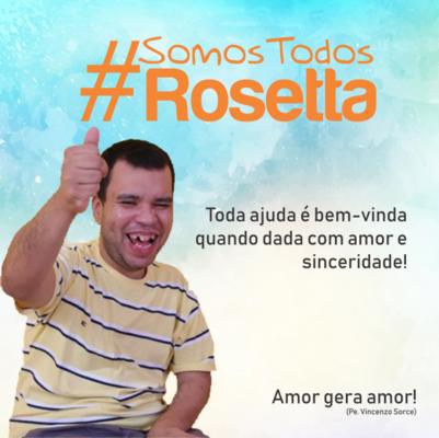 """Casa Família Rosetta pede ajuda à sociedade através da campanha """"#SomosTodosRosetta"""" na Vakinha Online."""