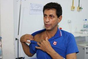 Fernando Alves da Silva, após a cirurgia da artéria subclávia - Gente de Opinião