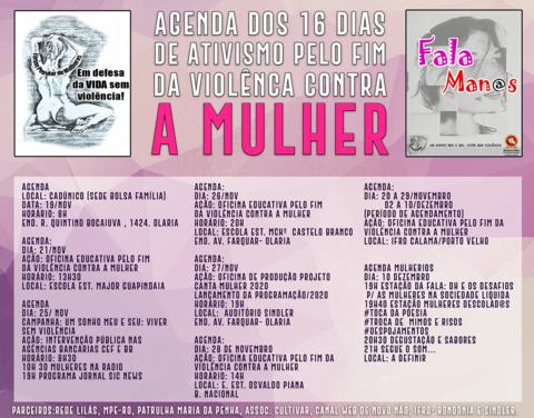 """Fórum realiza campanha """"16 Dias de Ativismo pelo Fim da Violência contra à Mulher"""""""