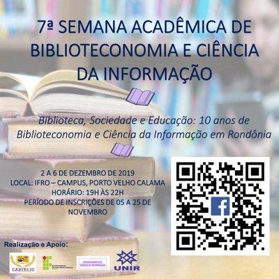 UNIR realiza semana acadêmica comemorativa dos 10 anos do curso de Biblioteconomia e Ciência da Informação