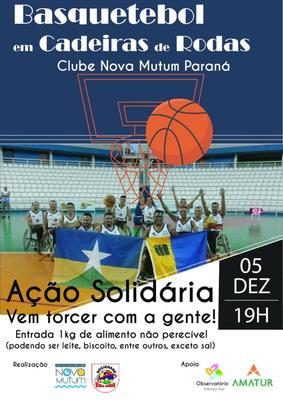 Um show de SUPERAÇÃO e SOLIDARIEDADE será realizado pelo time de basquetebol de cadeirantes em Nova Mutum Paraná