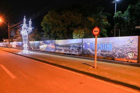 Painel comemorativo divulga fotografias de Ji-Paraná Próspera