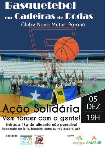 Um show de SUPERAÇÃO e SOLIDARIEDADE será realizado pelo time de basquetebol de cadeirantes em Nova Mutum Paraná - Gente de Opinião