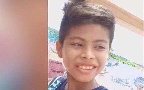 Ainda é delicada a situação do menino que perdeu um dos olhos com um tiro de espingarda