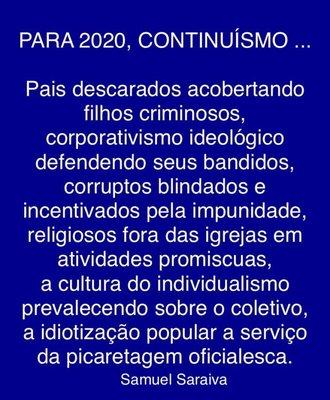 Mensagem para 2020