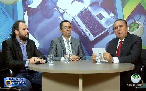 Dr. Aparício Carvalho conversa com o Secretário Adjunto de Segurança Pública do Estado de Rondônia Hélio Gomes