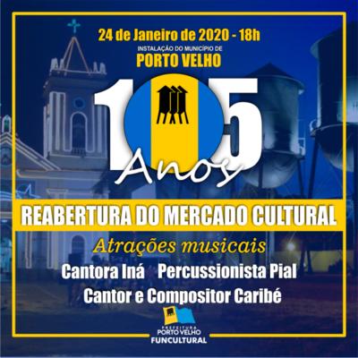Mercado Cultural será reaberto  + Hoje é o aniversário da Banda do Só Vai Quem Quer + Lenha na Fogueira