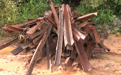 Abandono da Ferrovia Madeira Mamoré facilita o roubo de peças