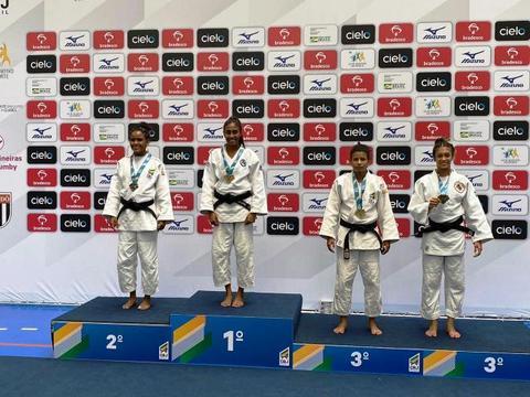 Amanda Arraes conquista medalha de bronze no Meeting Nacional de Judô, em São Paulo